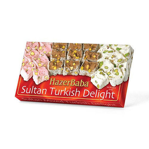 HAZERBABA Mixed Sultan Turkish Delight 454g resmi