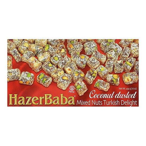 HAZERBABA Turkish Delight Mixed Nuts w/Coconut Dusted 454g resmi