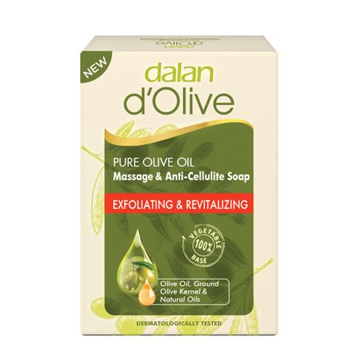 DALAN d'Olive Pure Olive Oil Bath&Body Soap ''Exfoliating&Revitalizing'' 200g resmi