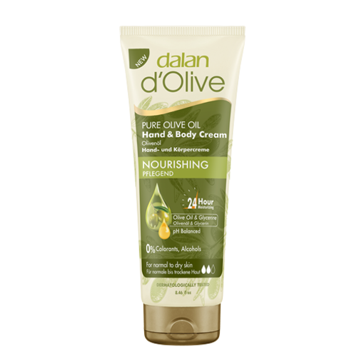 DALAN d'Olive Pure Olive Oil Hand&Body Cream 250ml resmi