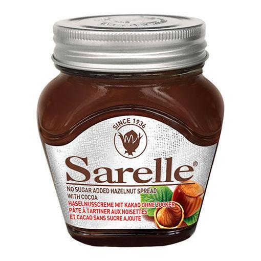 SARELLE Cocoa Spread w/Hazelnut ''No Sugar Added'' 350g resmi