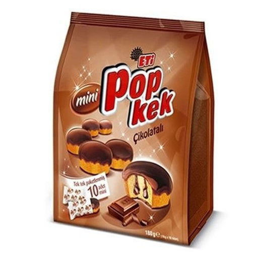 ETI Pop Kek Chocolate Mini Cakes (8 Individual Mini Packs) 144g resmi