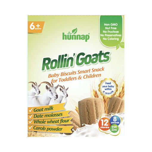 HUNNAP Rollin' Goats - Whole Wheat Baby Biscuits with Goat Milk 400g resmi