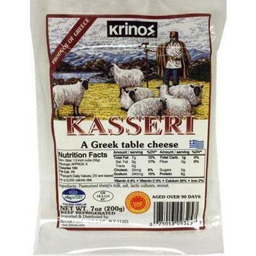 KRINOS Kasseri Greek Cheese 200g resmi