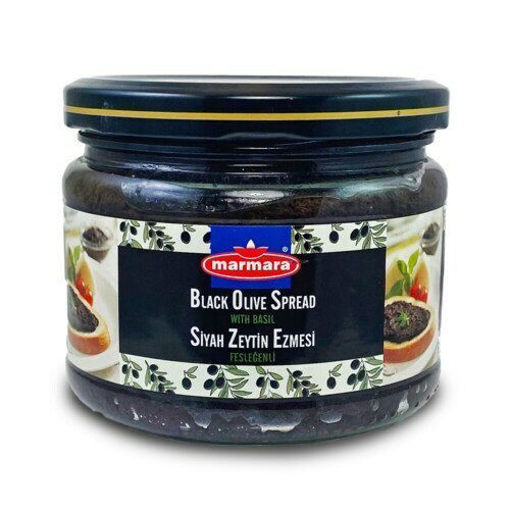MARMARA Black Olive Paste w/Basil 300g resmi