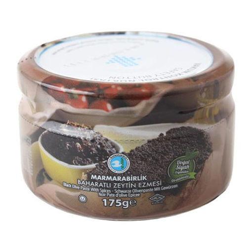 MARMARABIRLIK Black Olive Paste w/Spice 175g resmi