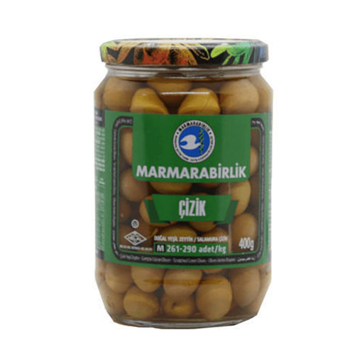 MARMARABIRLIK M Size Scratched Olives (Cizik Zeytin) 400g resmi