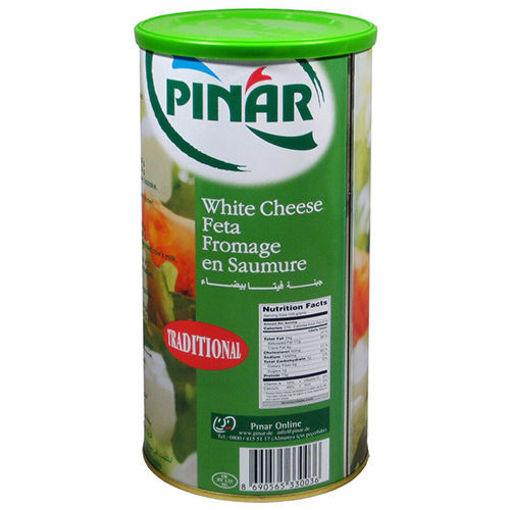 PINAR White Feta Cheese in Green Can %55 1000g resmi