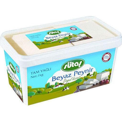SUTAS Full Fat White Cheese (Tam Yagli Beyaz Peynir) 1000g resmi