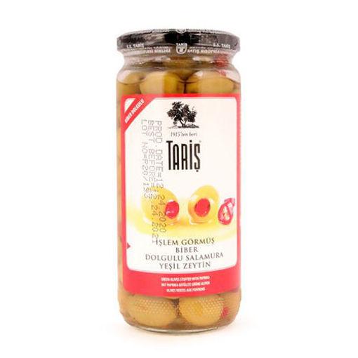 TARIS Pepper Stuffed Green Olives 500g resmi