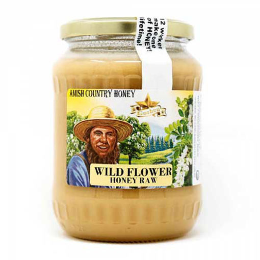 AMISH COUNTRY Wild Flower Raw Honey 454g resmi
