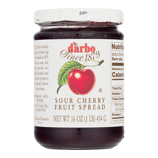 DARBO All-Natural Sour Cherry Fruit Spread 454g resmi