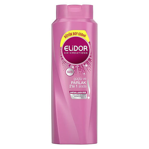 ELIDOR Strong & Bright 2in1 Shampoo 'Pink' 650ml resmi