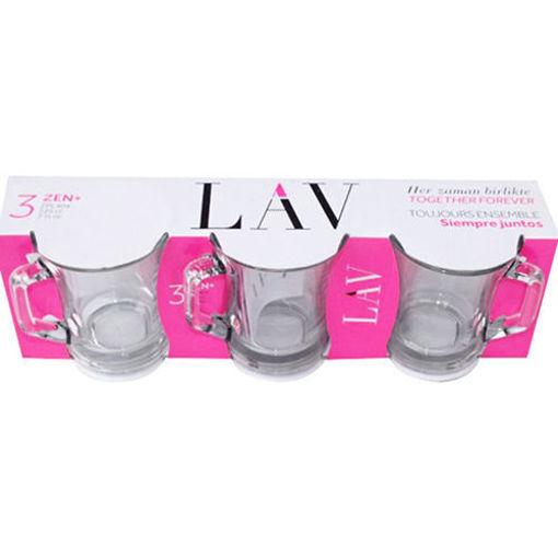 LAV Zen+ Large Tea Glasses 3pc resmi