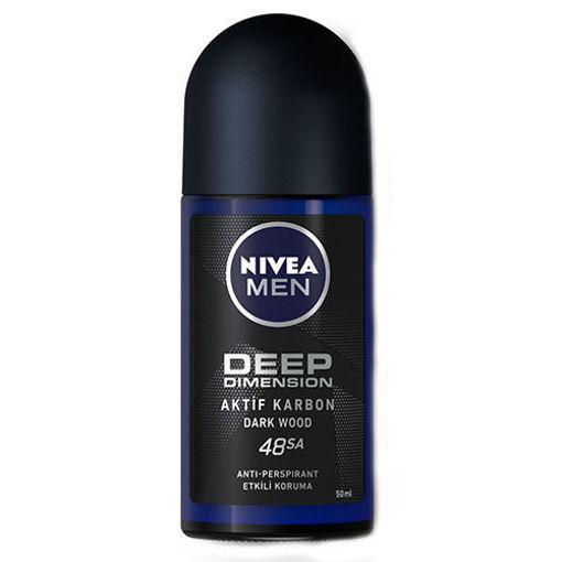 NIVEA MEN Deep Black Carbon Roll-On 50ml resmi