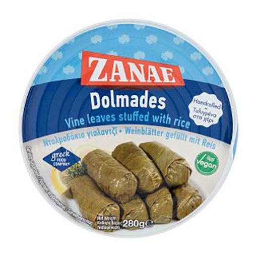 ZANAE 'Dolmades' Vine Leaves Stuffed w/Rice 280g resmi