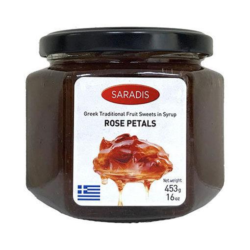 SARADIS Rose Petals in Sweet Syrup 453g resmi