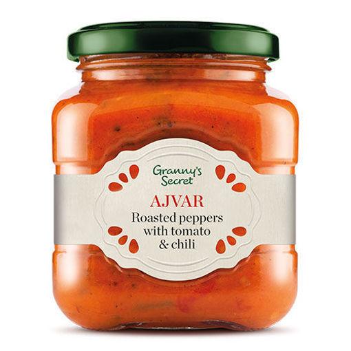 GRANNY'S SECRET Ajvar Roasted Peppers w/Tomato & Chili 550g resmi