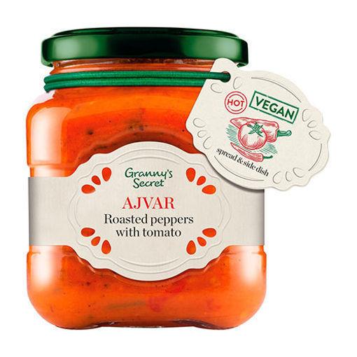 GRANNY'S SECRET Hot Ajvar Roasted Peppers w/Tomato 550g resmi