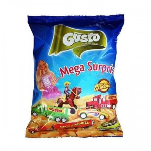 GUSTO Mega Surprize Puff Snacks 60g resmi