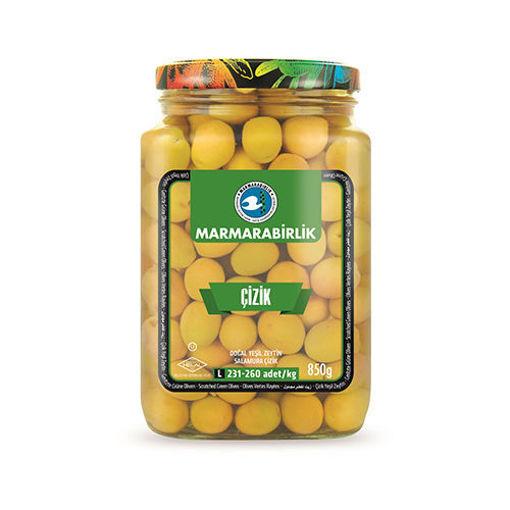 MARMARABIRLIK Scratched Green Olives 850g resmi