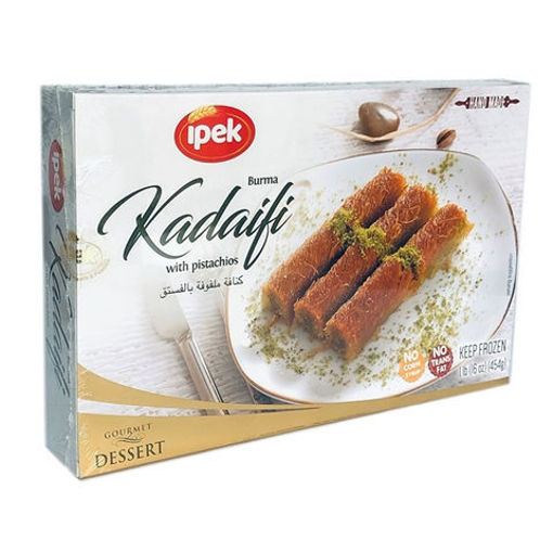 IPEK Rolled Kadaifi w/Pistachios (Burma Kadayif) 454g resmi