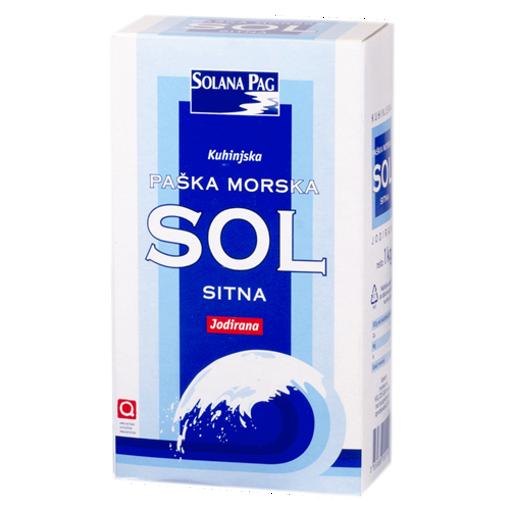 SOLANA PAG Parska Molska Sol ''Sitna'' - Salt 1kg resmi