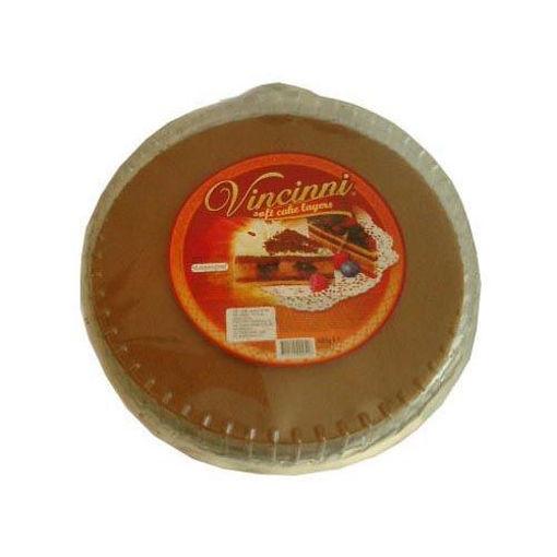 VINCINNI Round Soft Cake Layer (Pre-Baked Dark w/Cacao) 400g resmi