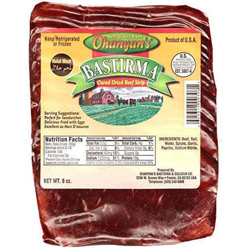 OHANYAN'S Halal Sliced Fat Bastirma (Pastirma) 225g resmi