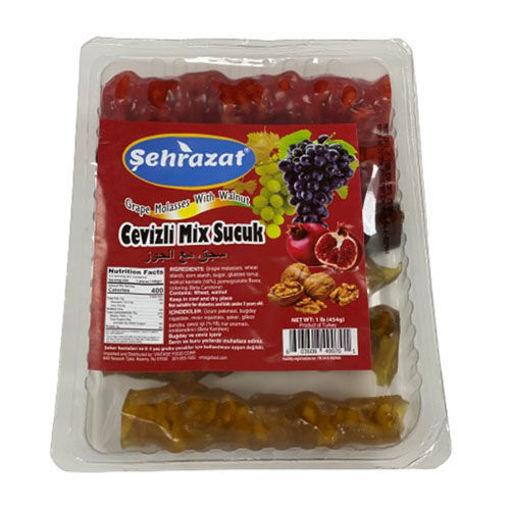 SEHRAZAT Grape Molasses w/Walnut (Cevizli Mix Sucuk) 454g resmi
