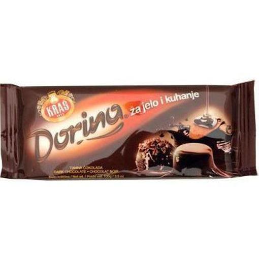 KRAS Dorina Dark Chocolate Bar 100g resmi