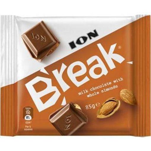 ION Break Milk Chocolate w/Whole Almonds 85g resmi