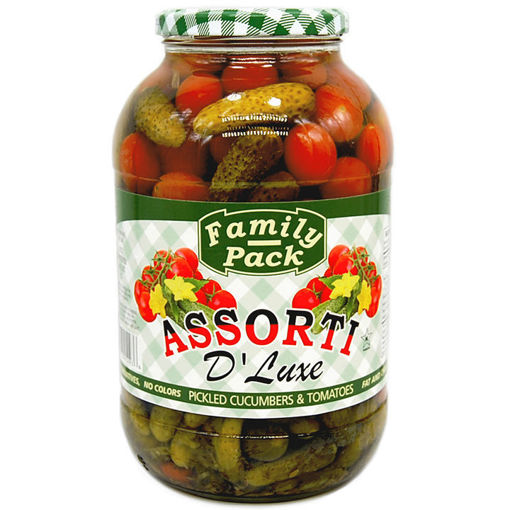 FAMILY PACK Assorti D'luxe Cherry Tomatoes & Cucumbers 907g resmi