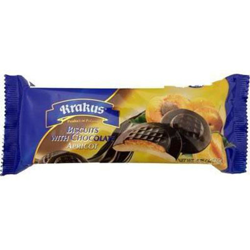 KRAKUS Biscuits w/Chocolate (Apricot) 135g resmi