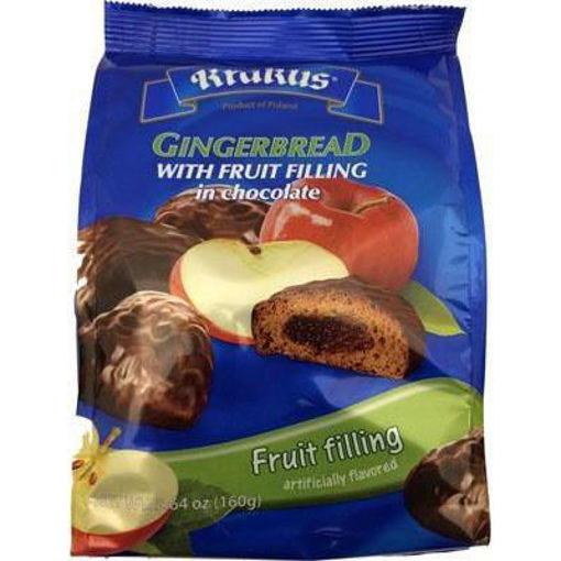 KRAKUS Gingerbread w/Apple Filling in Chocolate (Fruits) 160g resmi