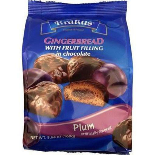 KRAKUS Gingerbread w/Fruit Filling in Chocolate (Plum) 160g resmi