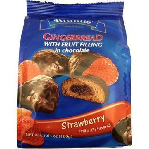 KRAKUS Gingerbread w/Fruit Filling in Chocolate (Strawberry) 160g resmi