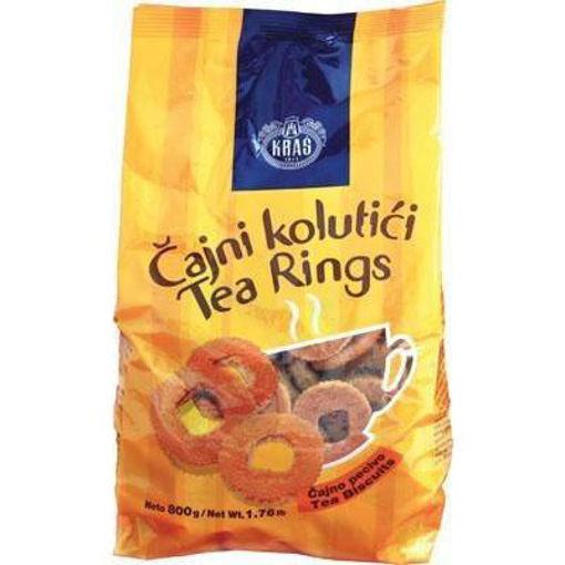KRAS Cookies Tea Rings in Bag (Cajni Kolutici) 500g resmi