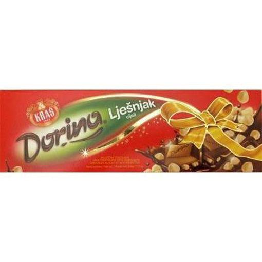KRAS Dorina Chocolate Bar w/Whole Hazelnuts 220g resmi