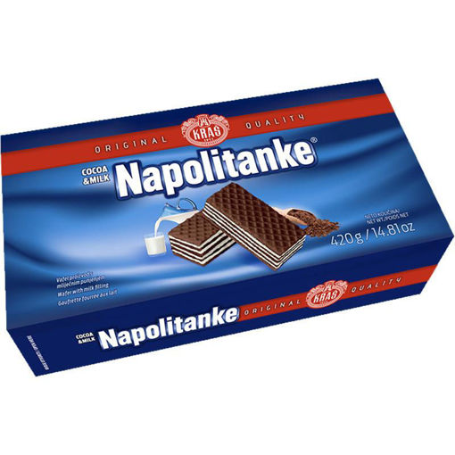 KRAS Wafers Napolitanke Cocoa & Milk Cream 420g resmi