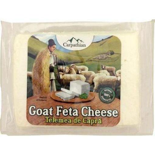 CARPATHIAN Goat Feta Cheese (Telemea de Capra) 350g resmi