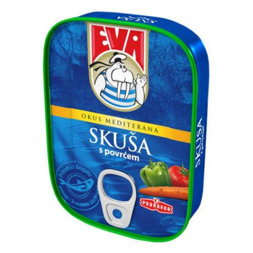 EVA Mackerel w/Vegetables in Tomato Sauce 115g resmi