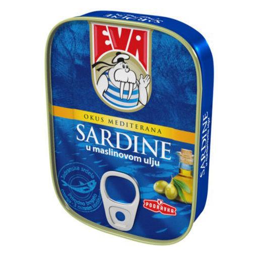 EVA Sardines in Olive Oil 115g resmi
