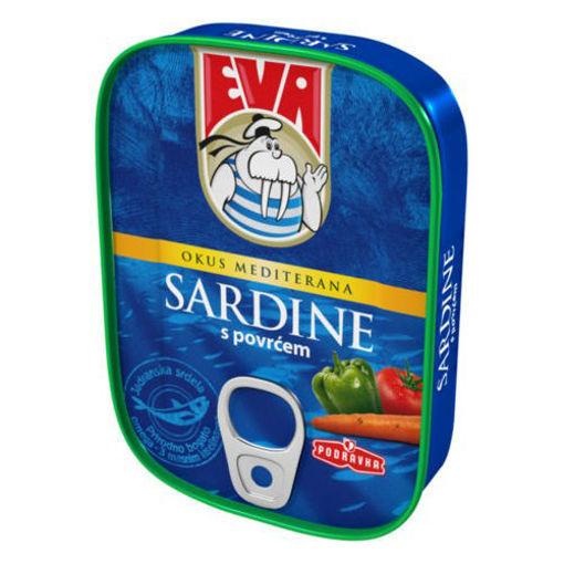 EVA Sardines w/Vegetables in Tomato Sauce 115g resmi