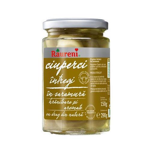 RAURENI Ciuperci Intregi (Whole Mushrooms in Brine) 280g resmi