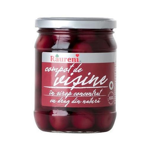 RAURENI Compot de Visine (Pitted Sour Cherries) 720g resmi